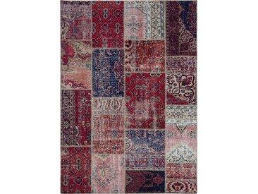 Vintage Teppich Patchwork 170 x 240 cm /Rot, Mischgewebe