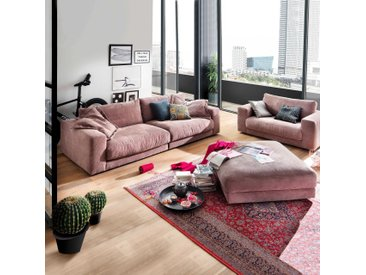 Candy Bigsofa Seventies, Rosa Stoff
