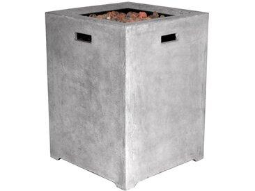 Clifton Terrassenfeuer Compact Square Grey /Grau, 48 x cm Keramik