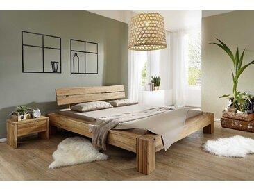 Massivholzbett BE-0248 180 x 200 cm, Eiche Holz