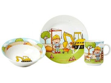 Ritzenhoff & Breker Kinderservice Bauarbeiter 3tlg., Porzellan