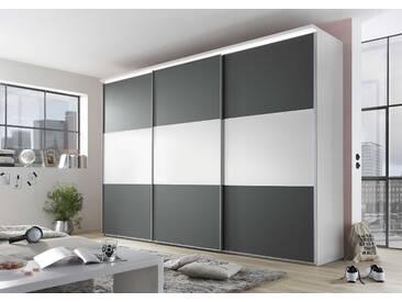 Staud Schwebetürenschrank Includo, 298 x 222 cm, Weiß Holzoptik