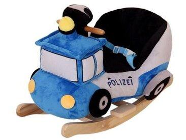 Schaukeltier Polizei /Blau / Weiß, Stoff