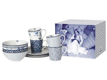 Laura Ashley Kombiservice Blue Print 12tlg. /Blau, Porzellan