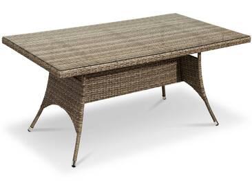 Gartentisch May 160x90 cm, Polyrattan, Creme 160 x 90 cm