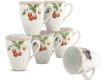CreaTable Kaffeebecher Orchard 6tlg., Porzellan