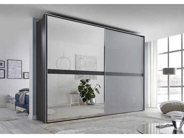 Staud Schwebetürenschrank Malaga, 278 x 222 cm, Grau Glas