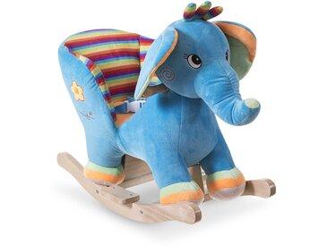 Schaukeltier Elefant, blau Stoff