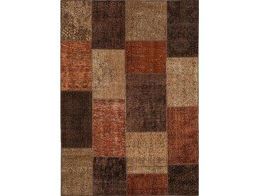 Vintage Teppich Patchwork 140 x 200 cm /Beige, Mischgewebe