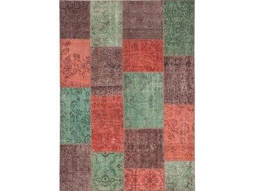 Vintage Teppich Patchwork 120 x 180 cm /Bunt, Mischgewebe