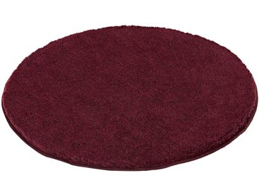 Kleine Wolke Badteppich Relax 100 cm, rot Polyester