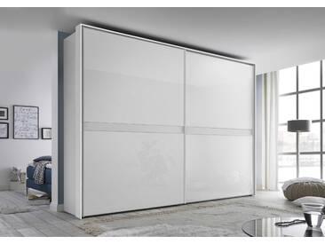 Staud Schwebetürenschrank Malaga, 278 x 222 cm, Weiß Glas