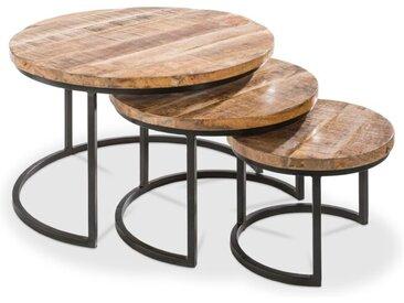 3-Satz Tisch Irat /Akazie, Holz