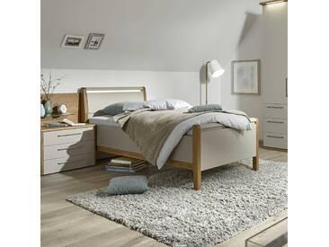 Loddenkemper Bett Multi-Comfort 90 x 200 cm, grau Holzoptik