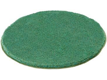 Kleine Wolke Badteppich Relax 100 cm, Grün Polyester