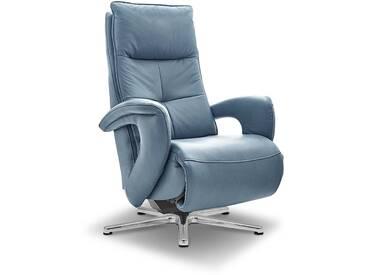 HUKLA Sessel ER08, Blau Leder