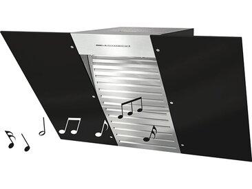 Miele DA 6096 W Black Wing Music Wandhauben - Schwarz