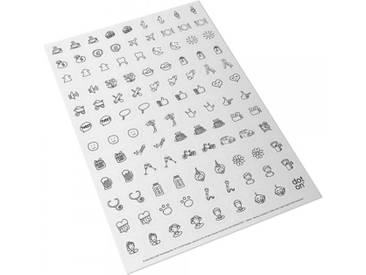 dot on Klebedots Doodle Klebepunkte 107 Stück