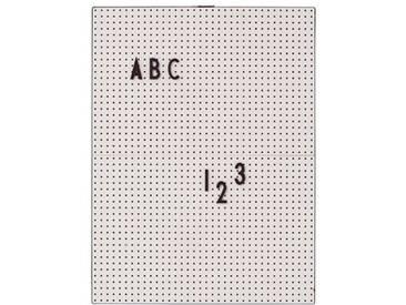 Design Letters Letter Board Buchstabentafel A4 grau