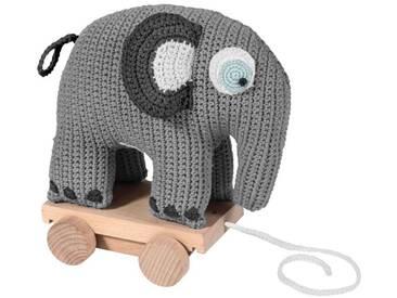 Sebra Nachzietier Elefant gehäkelt grau 24 cm