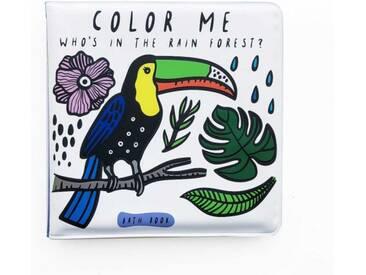 Wee Gallery Badebuch Color Me Regenwald 12x12cm