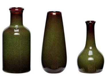 hübsch interior Keramik Vasen Set grün 3 Stück