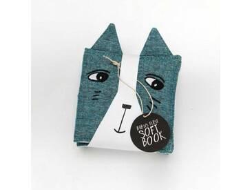 Wee Gallery Baby Stoffbuch Katze & ihre Freunde 12x12cm