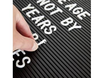 Monograph Ersatzbuchstaben Letter Board weiss 286 Stück