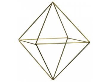 DraadZaken DIY Himmeli Cube Bastelset Blumenampel M gold 14 x 20 cm