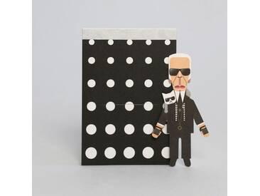 noodoll Fashion King Karl Pocket Sketchbook Notizblock 11,5x8 cm