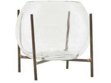 House Doctor Vase Ada mit Ständer Glas 8x11 cm