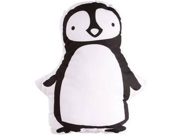 A Little Lovely Company Pinguin Kissen schwarz weiss 34 cm