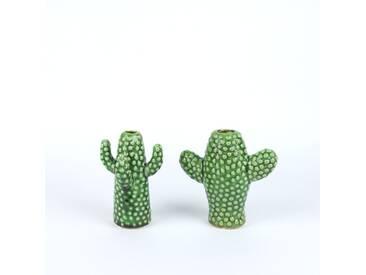 SERAX Kaktus Vase Keramik Mini grün Set 2 Stück 12 cm