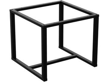 Couchtisch Kaffeetisch Wohnzimmertisch Industrie Design Metallgestell ohne Tischplatte, HLMK-03-RAL 9005 Tiefschwarz 40x40x40 cm