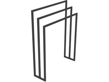 Handtuchständer 3 Badetuchstangen Handtuchhalter Freistehend, Tiefe 20 cm HLMH-01B-70 cm 86 cm RAL 7016 Anthrazitgrau