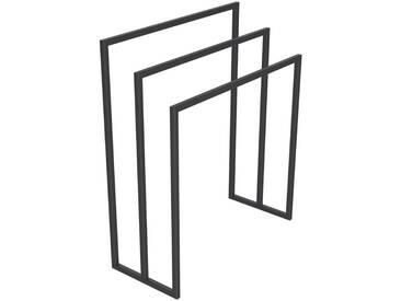 Handtuchständer 3 Badetuchstangen Handtuchhalter Freistehend, Tiefe 30 cm HLMH-02B-65 cm 78 cm RAL 7016 Anthrazitgrau