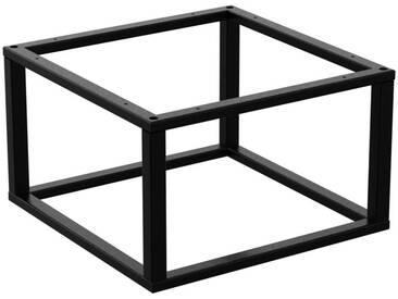 Couchtisch Kaffeetisch Wohnzimmertisch Industrie Design Metallgestell ohne Tischplatte, HLMK-01-RAL 9005 Tiefschwarz 50x50x35 cm
