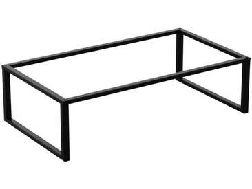 Couchtisch Kaffeetisch Wohnzimmertisch Industrie Design Metallgestell ohne Tischplatte, HLMK-02-RAL 9005 Tiefschwarz 60x110x35 cm