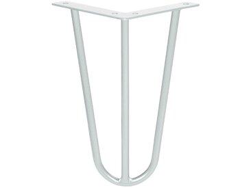 Haarnadel Tischbeine, 3-Stangen Bein, Tischkufen Tischfüße Hairpin Legs DIY, HLT-13A-30 cm RAL 9016  Verkehrsweiss