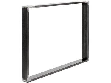 Design Tischkufen aus Vierkantprofilen 80x20 mm, Tischgestell, Tischbeine, 1 Stück, HLT-01-C-100 x 72 cm 0000 Rohstahl mit Klarlack