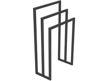 Handtuchständer 3 Badetuchstangen Handtuchhalter Freistehend, Tiefe 20 cm HLMH-01B-40 cm 70 cm RAL 7016 Anthrazitgrau