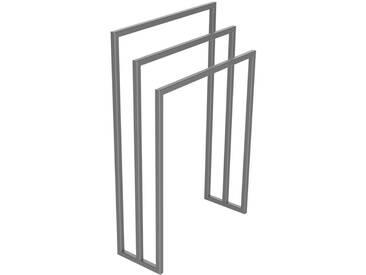 Handtuchständer 3 Badetuchstangen Handtuchhalter Freistehend, Tiefe 20 cm HLMH-01B-55 cm 80 cm RAL 9023 Perldunkelgrau