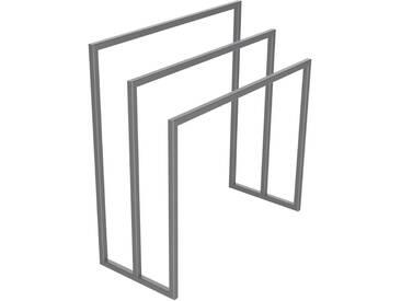 Handtuchständer 3 Badetuchstangen Handtuchhalter Freistehend, Tiefe 30 cm HLMH-02B-65 cm 72 cm RAL 9023 Perldunkelgrau