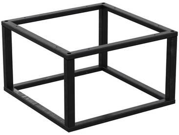 Couchtisch Kaffeetisch Wohnzimmertisch Industrie Design Metallgestell ohne Tischplatte, HLMK-01-0000 Rohstahl mit Klarlack 40x40x35 cm