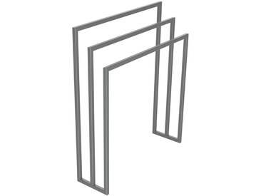 Handtuchständer 3 Badetuchstangen Handtuchhalter Freistehend, Tiefe 20 cm HLMH-01B-65 cm 84 cm RAL 9023 Perldunkelgrau