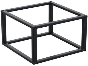 Couchtisch Kaffeetisch Wohnzimmertisch Industrie Design Metallgestell ohne Tischplatte, HLMK-01-RAL 7016 Anthrazitgrau 60x60x30 cm