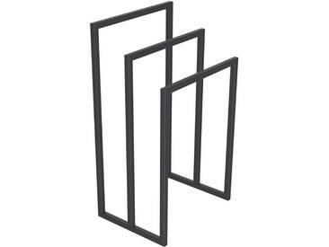 Handtuchständer 3 Badetuchstangen Handtuchhalter Freistehend, Tiefe 30 cm HLMH-02B-45 cm 70 cm RAL 7016 Anthrazitgrau