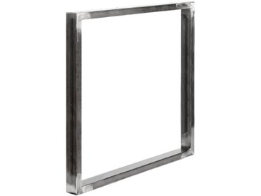 Design Tischkufen aus Vierkantprofilen 60x30 mm, Tischgestell, Tischbeine, 1 Stück, HLT-01-D-80 x 72 cm 0000 Rohstahl mit Klarlack