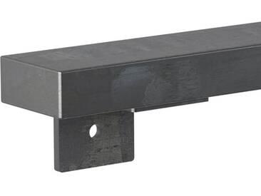 Treppenhandlauf aus Stahl Profil 60x30 mm Handlauf Treppengeländer Wandhandlauf HLH-01-110 cm 0000 Rohstahl mit Klarlack