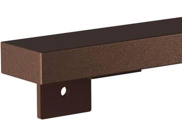 Treppenhandlauf aus Stahl Profil 60x30 mm Handlauf Treppengeländer Wandhandlauf HLH-01-130 cm RAL 8014 Sepiabraun